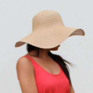 Cream Floppy Summer Hat