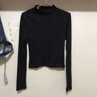 H&M Long Sleeves Ribbed Top