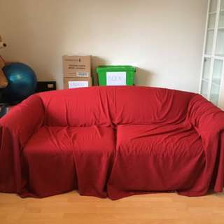 2 ~ 2.5 Seater Couch Cover Red x2