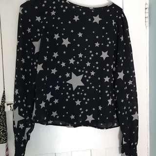 Zip Back Star Shirt