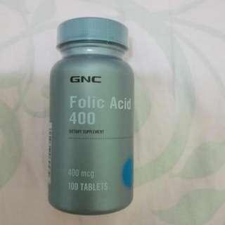 GNC葉酸片(全新未開封)