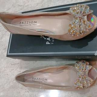 Pazzion Almond Low Wedge