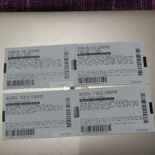 2 X Adventure Cove Waterpark and 2 X Universal Studios Tickets