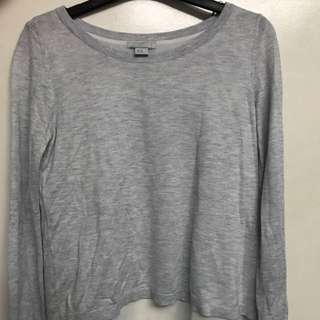 H&M Gray Illusion Sweater