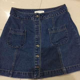 F21 Denim Skirt