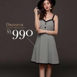 Dresseum 從前從前 魔術派對鑲邊洋裝