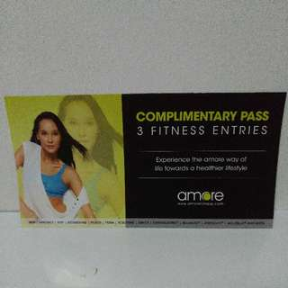 Amore Fitness GYM PASS X3