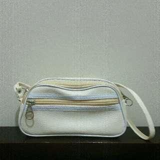 Mini Cream Sling Bag