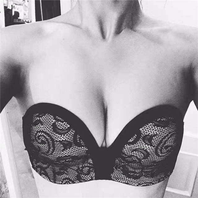 性感蕾絲內衣胸罩無肩帶文胸隱形聚攏防滑無痕胸貼婚紗禮服