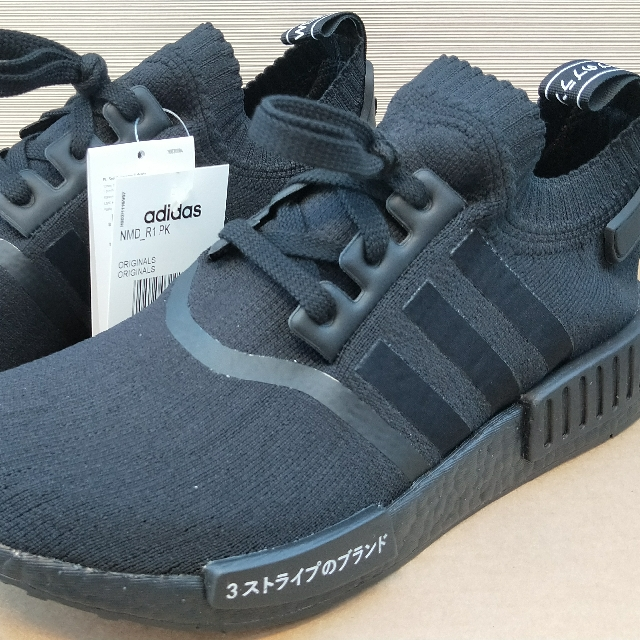 best deals on 8c229 f5cd1 Adidas NMD R1 PK Japan Boost Triple Black, Men's Fashion ...