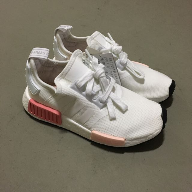 Adidas nmd r1 white rose rosa by9952 di carousell