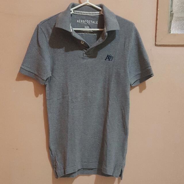 Aeropostale Gray Polo Shirt