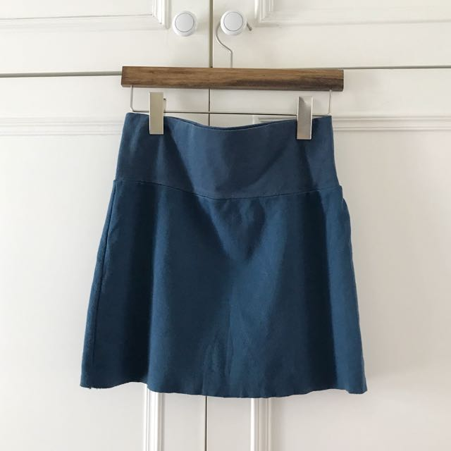 American Apparel 寶藍色棉質短裙