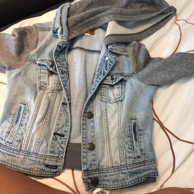 American Eagle Denim Sweater Sleeved Jacket