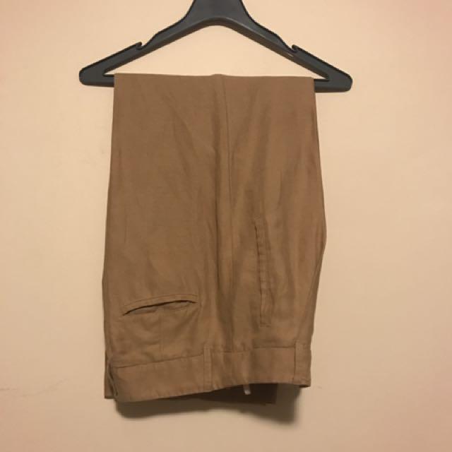 Aritzia High Waisted Linen Pants