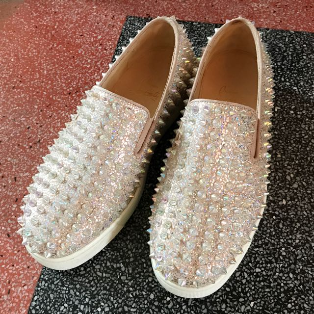 Authentic Christian Louboutin CL Women s Roller Boat Dou Dou 93de21473
