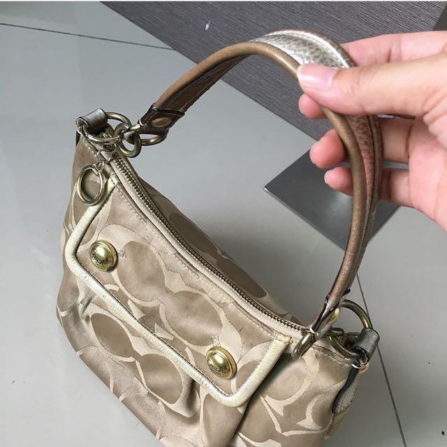 Authentic Coach Handbag in Beige
