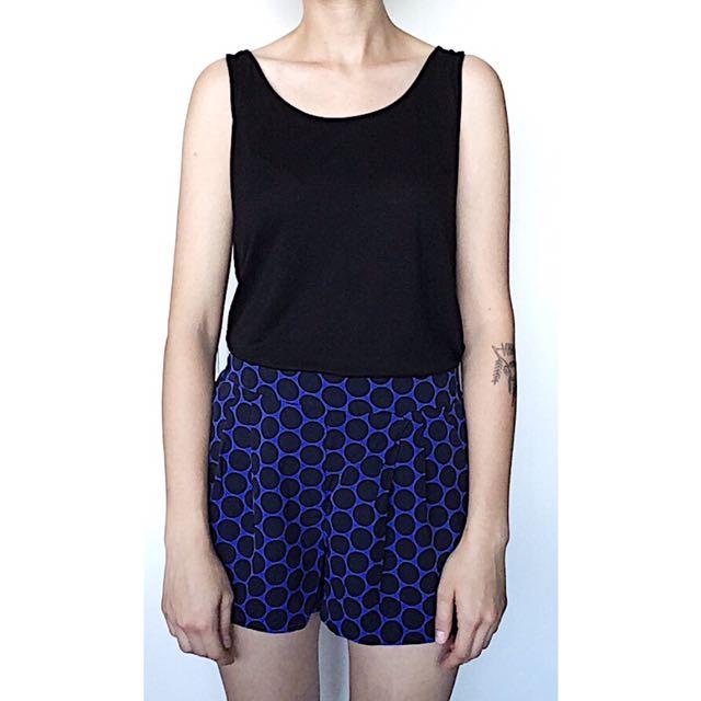 Babaton Polka Dog Silk Shorts