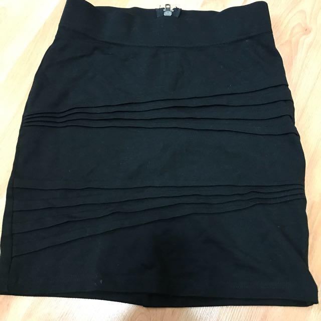 Bardot Black Mini Skirt Size 6