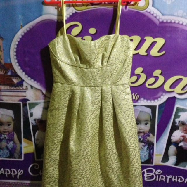 BCBG Yellow Dress With Strap