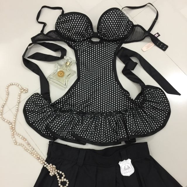 Bnew Sexy Victoria's Secret Apron + Police Skirt