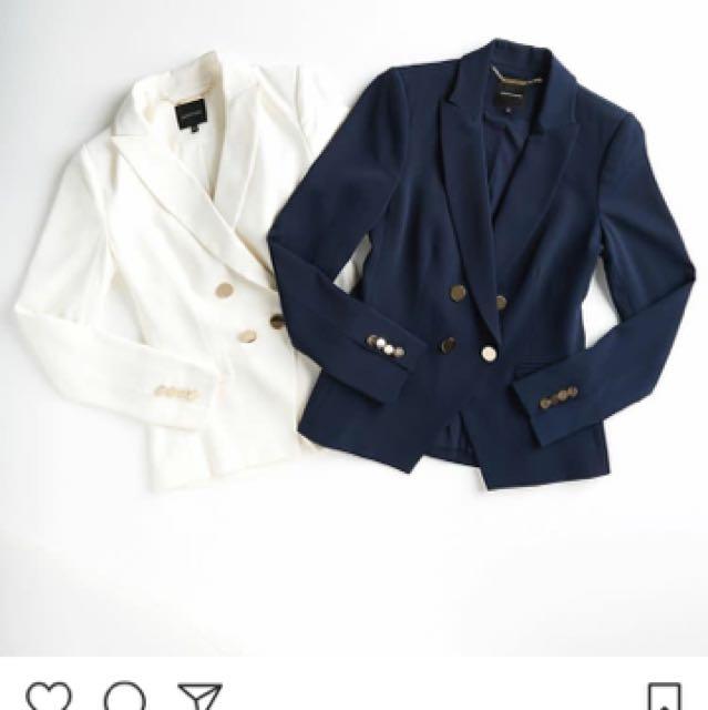 BNWT Balmain Style Portmans Blazer White