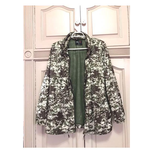 Camouflage Rain Coat