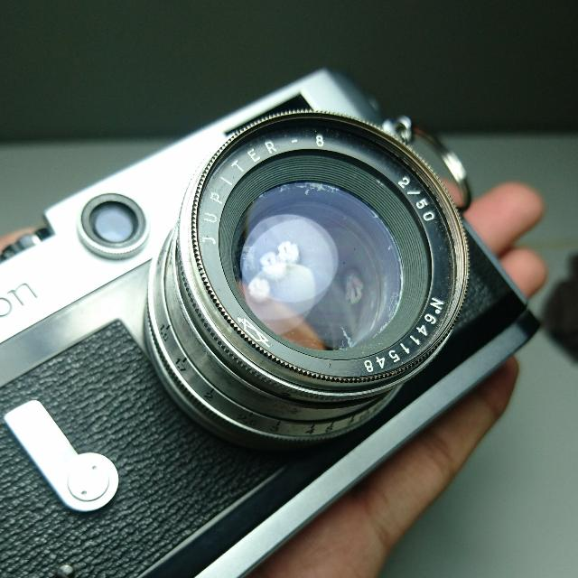 Canon P Rangefinder 35mm Film Camera w/ Jupiter 8 50mm F2
