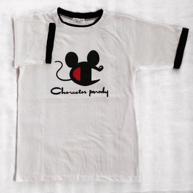 d35d42903 Character Parody Champion X Mickey Mouse Ringer Tee, Men's Fashion, Clothes  on Carousell