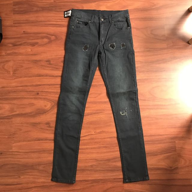 Cheap Monday Tight Smudge Trashed Jeans