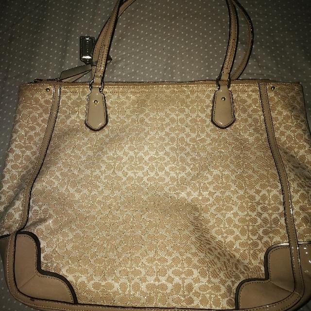 Coach Poppy Glam Tote Bag