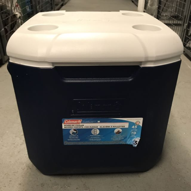 Coleman Cooler On Wheels
