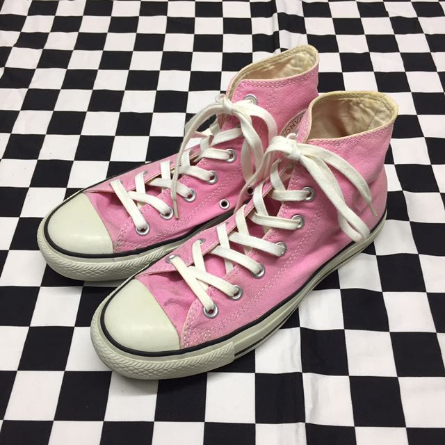 Converse All Star 粉紅色 高筒鞋 古著 二手