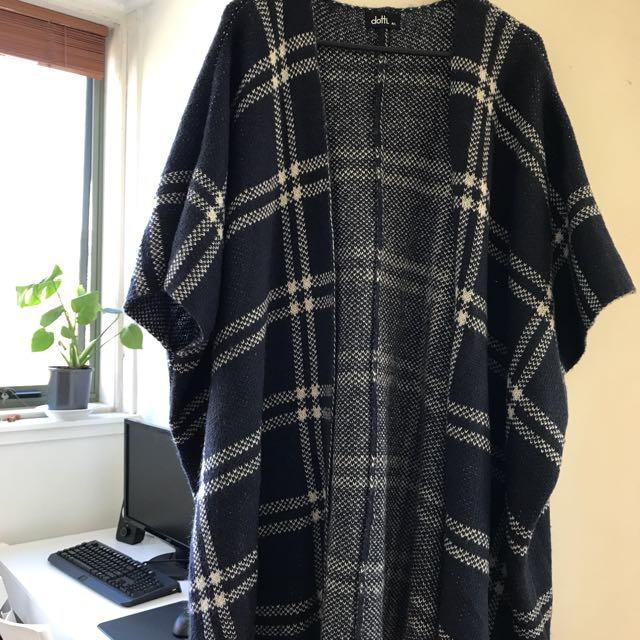 dotti long poncho-like coat