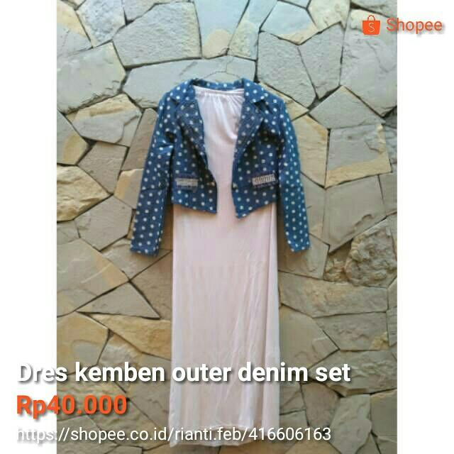 Dres Kemben Outer Denim Set