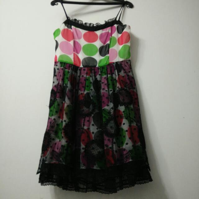 Emilie louis設計師專櫃雪紡蕾絲裙,M