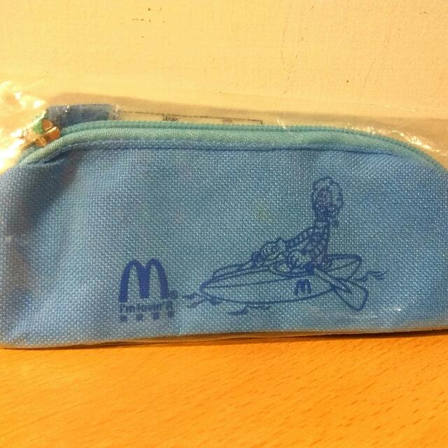[Ericaca 愛挖寶] 麥當勞世紀運動生日會 藍色鉛筆袋