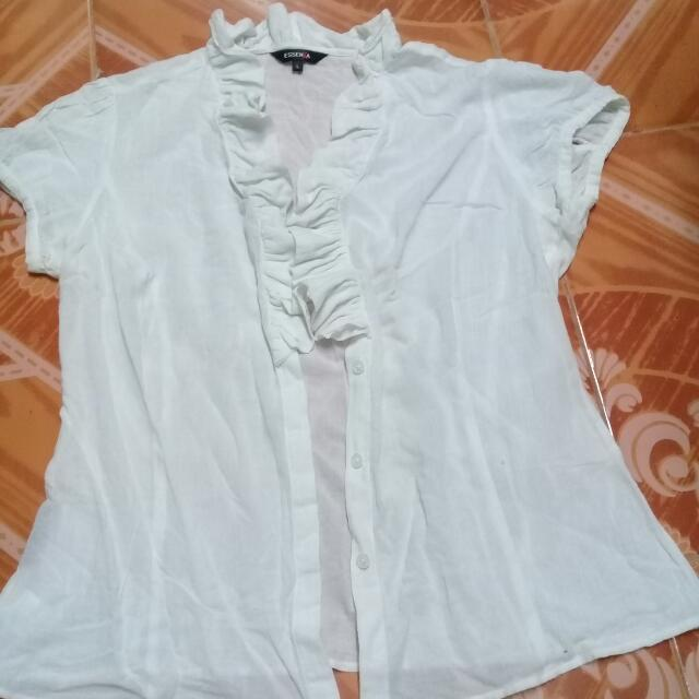 ESSENXA Ruffled Blouse