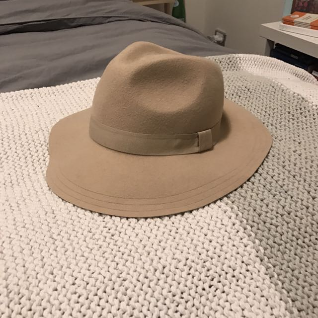 Felt Hat All About Eve Tan, Beige One Size