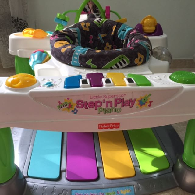 47020a921 Fisher Price Little Superstar Step N Play Piano Walker
