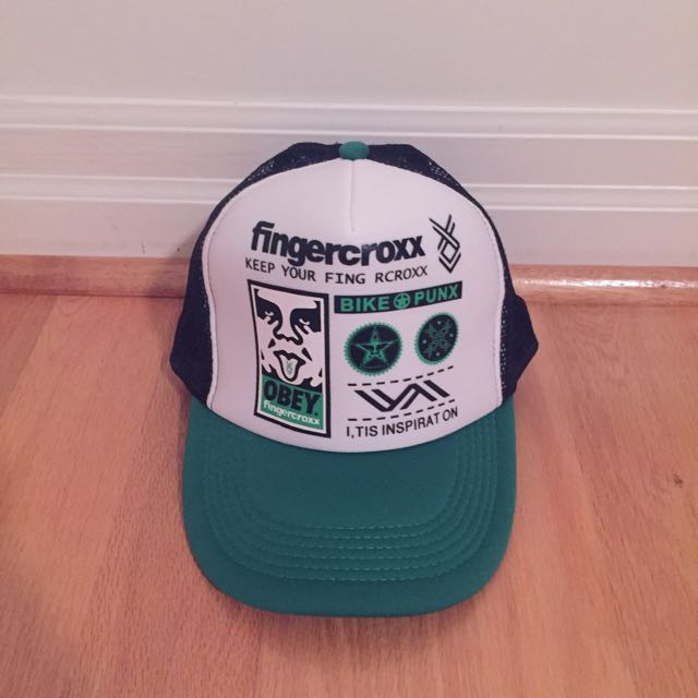 Green And White Snapback Cap Hat