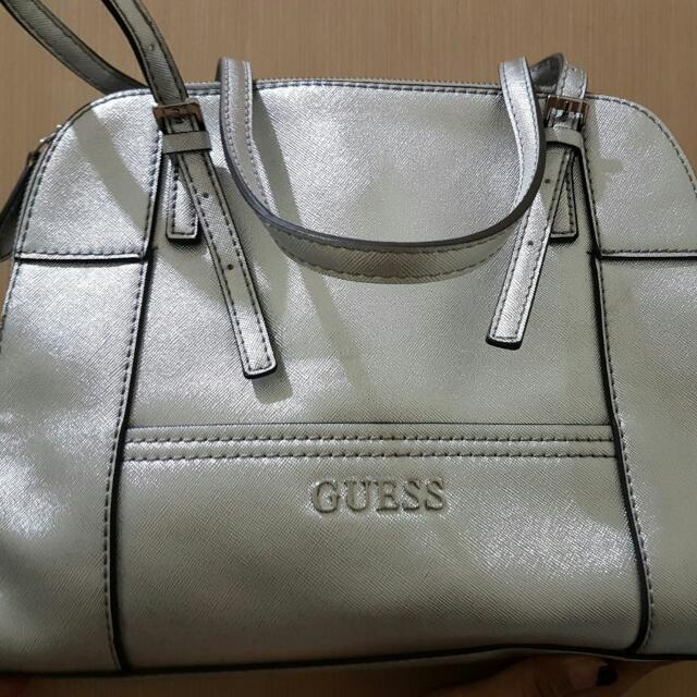 Guess Huntley Tote Bag Silver