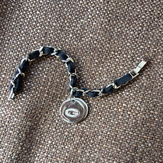Guess Leather & Chain Bracelet