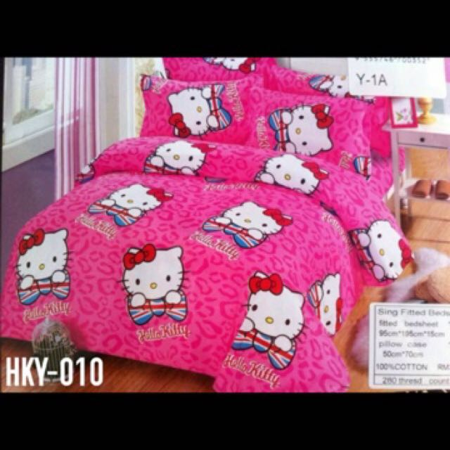 Hello Kitty Bedsheet Cadar Set Murah Selimut Bilik Tidur Home Furniture Others On Carou