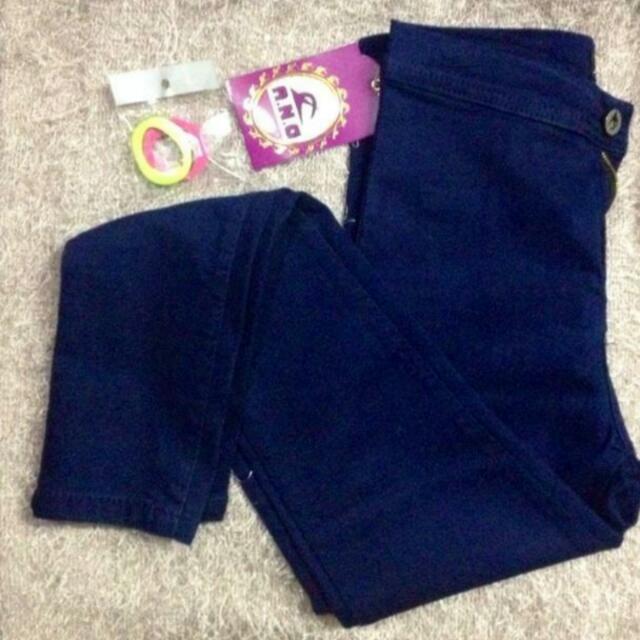 High waisted jeans (Navy Blue)