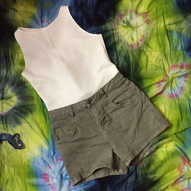 REPRICED‼️High Waisted Shorts & Top BUNDLE