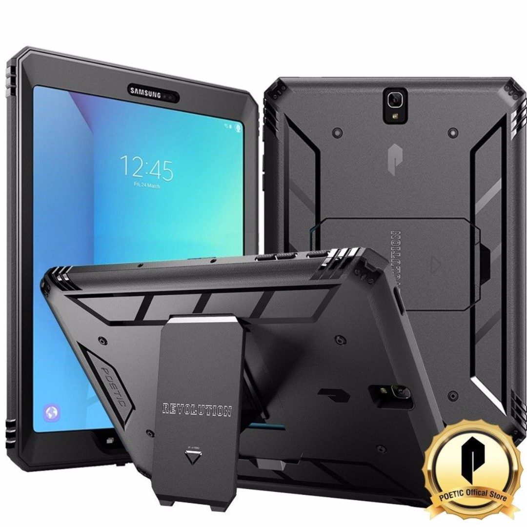 best service d98e8 8a561 [IN-STOCK] Poetic Revolution Galaxy Tab S3 9.7 Rugged Case With Hybrid  Heavy Duty Protection and Built-In Screen Protector and KickStand for  Samsung ...