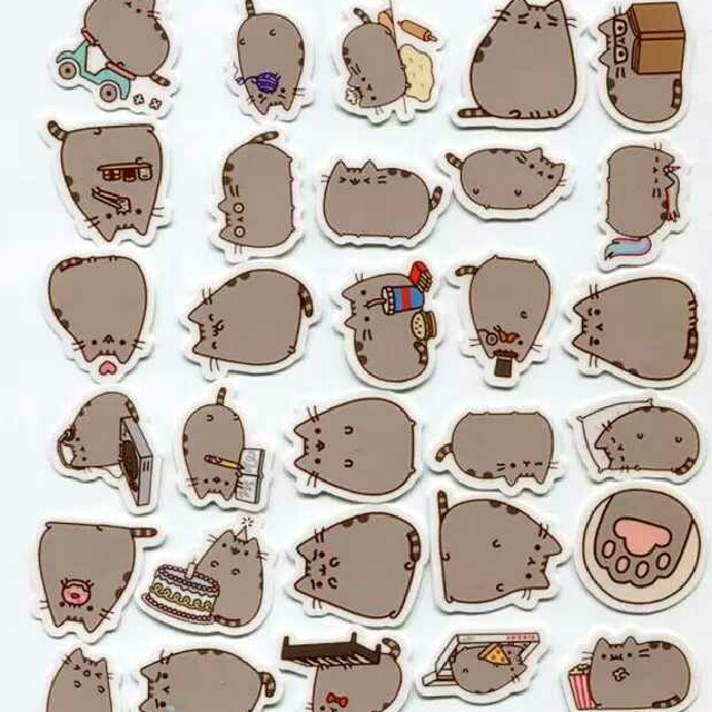 INSTOCK WATERPROOF PUSHEEN STICKERS, Design & Craft, Craft Supplies & Tools  on Carousell