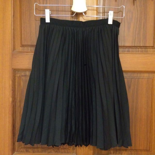 Jason Wu 黑色百摺短裙