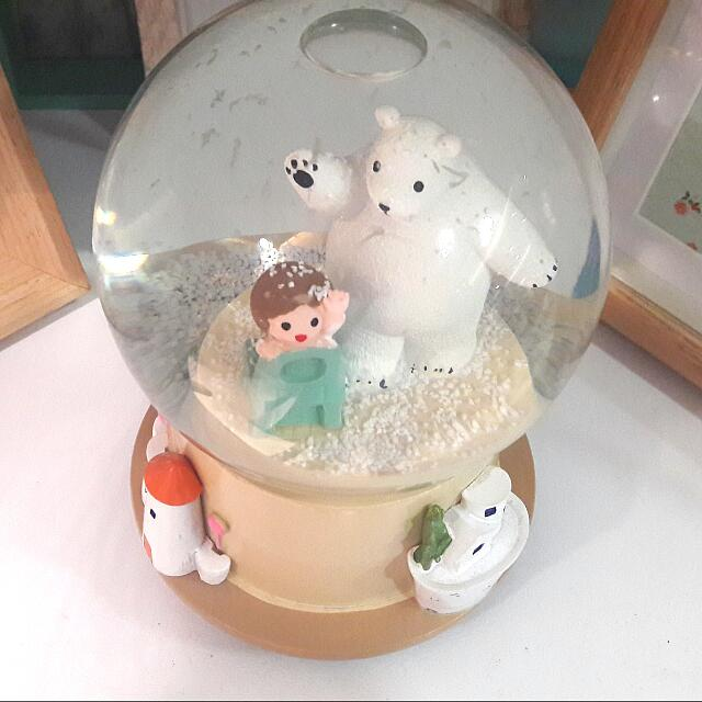 #jualmainan SNOW GlOBE TEDDY MUSIC